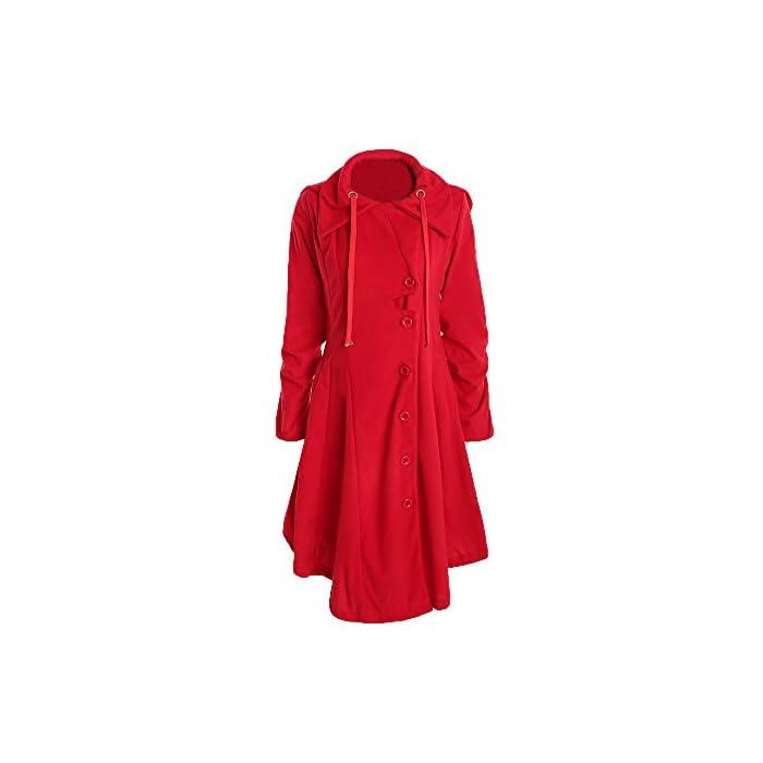 URSING Winter Mantel Damen Elegant Trenchcoat Frauen Slim Fit Übergangsjacke Outdoorjacke Windbreaker Kapuzenjacke…