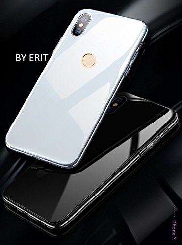 best loved accec 0a739 ERIT Shockproof TPU Bumper Luxurious Toughened Glass Back Case for Redmi  Note 5 Pro (White Glass, ERITFBANWC10)