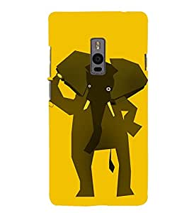 Elephant Animation 3D Hard Polycarbonate Designer Back Case Cover for OnePlus 2 :: OnePlus Two