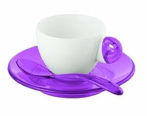 Guzzini Art & Café Tasse à expresso Violet Lot de 2