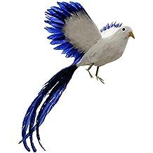 Estatuas Larga Cola de Pájaro Phoenix Taxidermia Artificial Decoración Hogar
