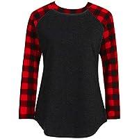 showsing-women clothes - Camisas - Manga Larga - para Mujer, Mujer, Color Black (Seven-Quarter Sleeve), tamaño L=(12 UK)