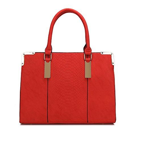 Designer-Damenhandtasche/Tragetasche, Kurt-Geiger-Stil rot