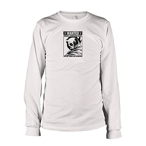 2 Flash Kostüm Staffel Das - TEXLAB - Wanted Arrow - Langarm T-Shirt, Herren, Größe XL, weiß