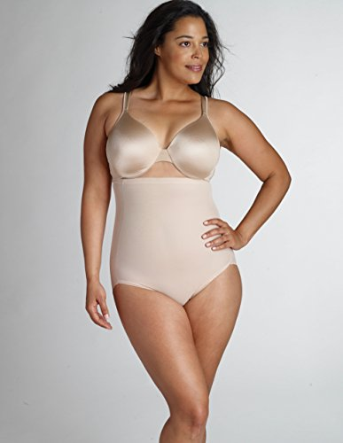 Naomi & Nicole Hoher Miederslip Plus Size, Farben:Hautfarben (NU);Größe:3X (52) Po Slip Plus-größe