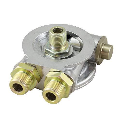 Ölfilter Sandwich Adapter Platte AN8 M20x1,5 mit Thermostat für externe Ölkühler