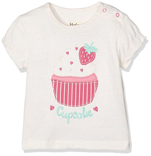 Hatley Baby-Mädchen T-Shirt Graphic Tee, Off-White (Cupcake), 92 (Cupcake T-shirt Kinder)