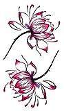 Temporäres Arm Fake Tattoo Blume Lilie für Frauen Entfernbare Klebe Henna Tattoos Festival Abziehtattoo Folie Temporary