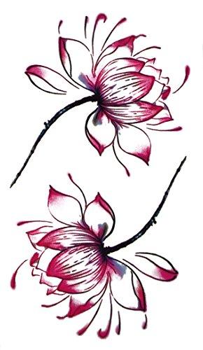 Temporäres Arm Fake mandala Tattoo Blume Lilie Rose Flower für Frauen mit Motiv | Entfernbare Klebe Henna Tattoos Festival Abzieh-Tattoo Folie | Künstlich Schwarze Körperkunst Aufkleber Arm Sleeve (Frauen Kostüm Für Piraten Up Make)