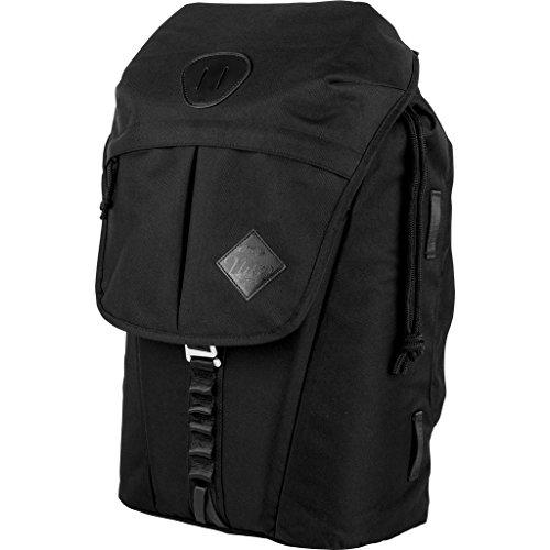 """Nitro Cypress sportiver Daypack Rucksack für Uni & Freizeit, Streetpack mit gepolstertem 15\"""" Wide Laptopfach & Seesacktunnelverschluss, Überschlagdeckel, True Black,  28 L , 42 cmx28 cmx16 cm, 680g"""