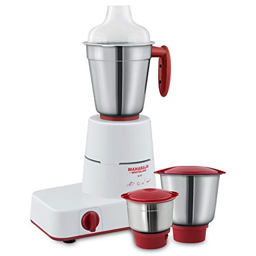 Maharaja Whiteline Solo Happiness 500-Watt Mixer Grinder (Red and White)