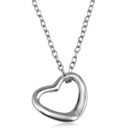 trixes-silver-look-open-love-heart-pendant-chain-necklace-valentines-gift