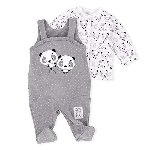 Baby Sweets Strampler Set mit Shirt für Mädchen und Jungen mit Panda Motiv/Babyset für Neugeborene & Kleinkinder | Größe 3 Monate (62)