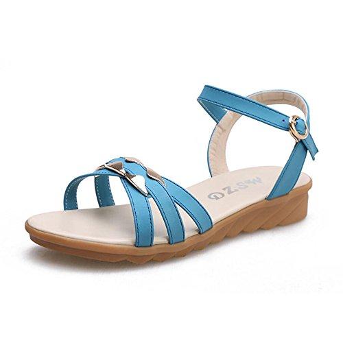 Xzgc - Chaussures Avec Bride À La Cheville Donna Marineblau