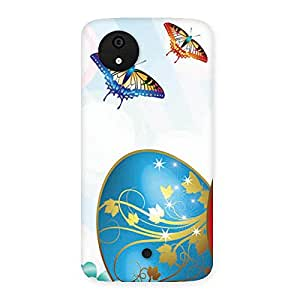 Impressive Animated Butterflies Print Back Case Cover for Micromax Canvas A1