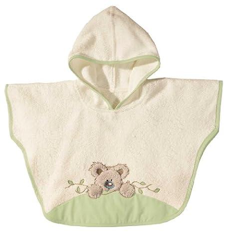 Morgenstern, Frottee - Badeponcho, 1-3 Jahre (one size), Farbe beige mit grün, Koala, 100 % Baumwolle,