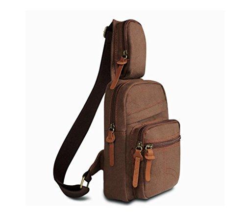 Sacchetto Di Nylon Casuale Turismo Petto Moda Semplice Pacchetto Diagonale,Darkgray brown