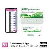 Femometer 20-Tests Ovulationtest Streifen mit App (iOS & Android), 20 miu/ml hochsensibel und genaue Ergebnisse