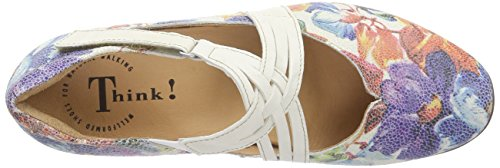 Think Chilli Damen Geschlossene Ballerinas Elfenbein (BIANCO/MULTI 95)