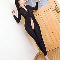 Ropa interior erótica abierta alto-elástico vertical tridimensional cuerpo-edificio Reina vestido traje nocturno uniforme,Black