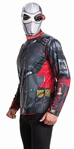 Rubie's Suicide Squad Herren Kostüm Deadshot Maske Shirt Karneval Gr.XL