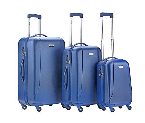 CarryOn Skyhopper 3er Reisegepäck - TSA Koffer- Hartschalen Gepäck-Set - Reisekoffer (Cool Blue)