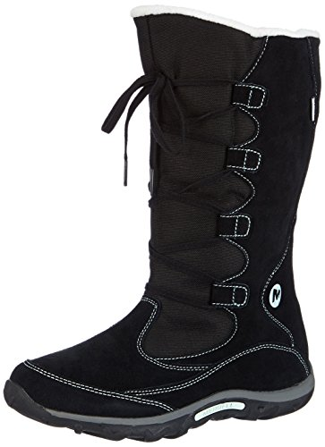 Merrell Jungle Moc Boot Wtpf, Bottes de pluie fille Multicolore (Blk/Mint)