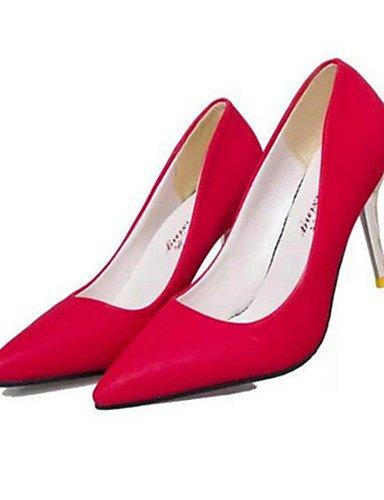 WSS 2016 Chaussures Femme-Soirée & Evénement-Noir / Jaune / Rouge-Talon Aiguille-Talons-Talons-Synthétique red-us5.5 / eu36 / uk3.5 / cn35