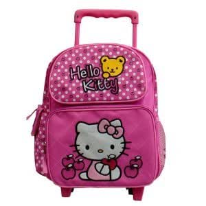 hello kitty kleiner rucksack mit rollen. Black Bedroom Furniture Sets. Home Design Ideas