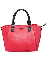 Heart Held Woman's Hand Held Bag Red