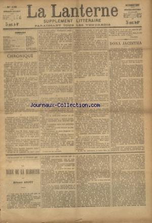 LANTERNE (LA) [No 138] du 20/02/1887 - DONA JACINTHA PAR MERY - LE GUE PAR MONTEGUT - NUIT D'AVRIL PAR AULA - CONTE NOIR PAR AVIAS - LA NATATION PAR MONIN - LA SANTE PUBLIQUE PAR LE DR MARC - FEUILLETONS / LA MERE DE LA MARQUISE PAR ABOUT - ET TIMOLEON POLAC PAR CHAVETTE