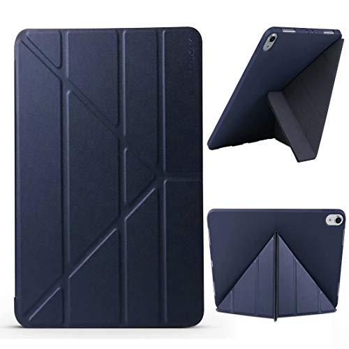 QINZIXIA EU Lammfell-Textur + TPU-Unterteil Horizontale Verformung Flip-Lederetui für iPad Pro 11 Zoll (2018) , mit dreifach klappbarem Halter und Schlaf- / Weckfunktion. * - * - (Farbe : Blau) - Blau Lammfell Brieftasche