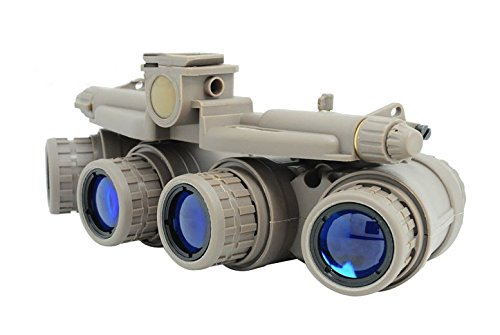 AIRSOFT DUMMY QUAD NIGHT VISION GOGGLES TAN SAND DE BROWN GPNVG 18
