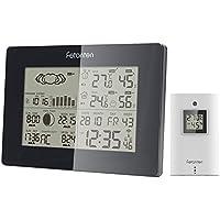 Station Météo Thermomètre Hygromètre sans Fil Intérieur Extérieur avec Baromètre / Alerte de Température / Phase de Lune / Sunrise / Sunset