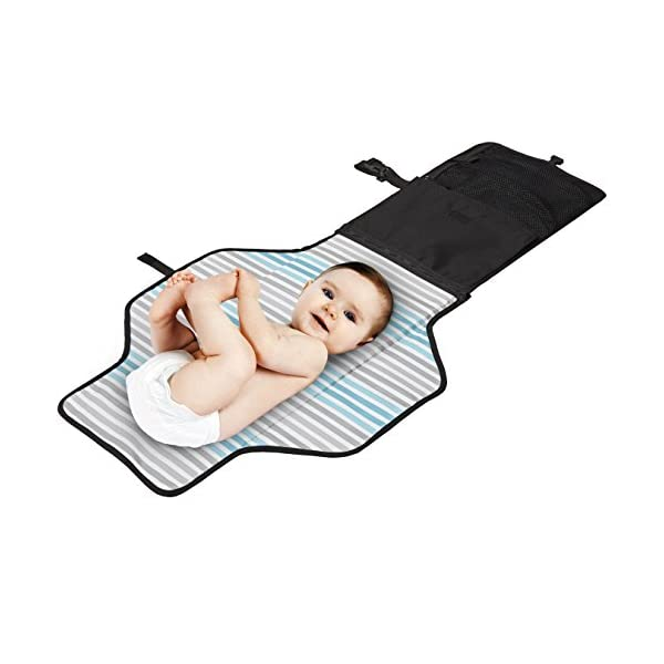 Skip Hop Pronto Signature Changing Set, Black Skip Hop Changing pad: extra-wide for wiggly babies. wipes clean. Two-in-one: pad zips off for independent use Translucent wipes case: see-through for timely reloads 3