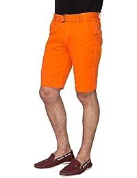 Campus Sutra Solid Men's Chino Shorts-Orange