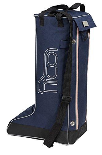 Nico Pferdesport Reitsport Boot Bag Stiefeltasche größe L Blau 60 x 40 x 20 cm Reitstiefel Sport Freizeit Schule Bag Day pac Fa. Bowatex