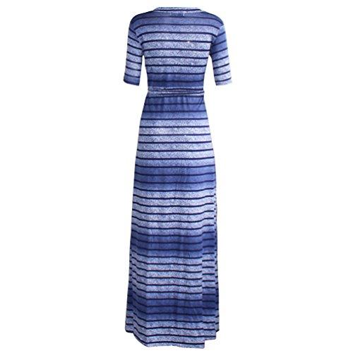 YiLianDa Damen Sommerkleider Lang Chiffon Kleider Elegante Maxikleid Strandkleid als Bild