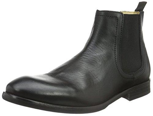 Hudson London Herren Entwhistle Calf Chelsea Boots, Schwarz (Black), 43 EU (Schwarz Boots Calf London)