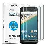 OMOTON [2 Pièces ] LG Google Nexus 5X (2015) Film Protection d'écran Verre Trempé (Dureté 9H)