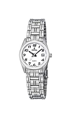 Festina F8826/1 - Reloj analógico de cuarzo para mujer con correa de acero inoxidable, color plateado de Festina