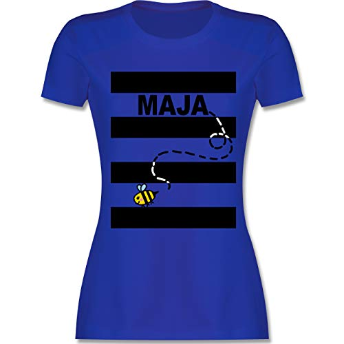 Karneval & Fasching - Bienen Kostüm Maja - XL - Royalblau - L191 - Damen Tshirt und Frauen T-Shirt (Lustiger Film Paare Kostüm Ideen)