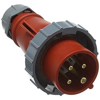 Mennekes (Unternehmen) 282amv-top einzelnen Teil Körper Stecker, IP 67Schutz, 6Stunden Earth Position, 4Pole, 16A, 400V, rot