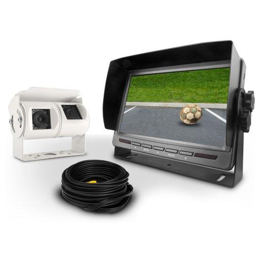 Carmedien Video Rückfahrsystem CM-DKRFS2 Videorückfahrsystem mit 120° + 60° Twin Doppel Rückfahrkamera