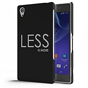 Koveru Designer Printed Protective Snap-On Durable Plastic Back Shell Case Cover for SONY XPERIA Z2 - Less is more