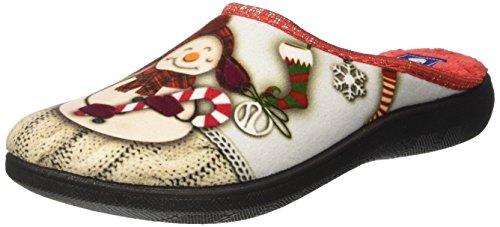 INBLU Blupuff, Pantofole Aperte sulla Caviglia Donna Avorio (Ghiaccio)