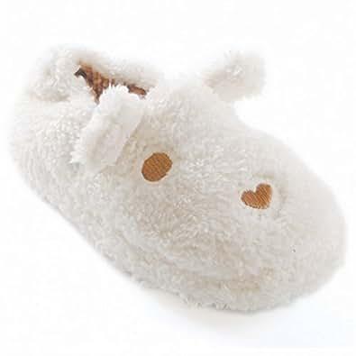 Chaussons animal - Fille (EUR 32-33) (Crème/Marron)