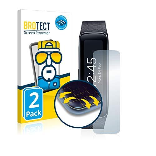 BROTECT Pellicola Protettiva Full Cover per Samsung Galaxy Gear Fit SM-R350 [2 Pezzi] - Copertura Completa 3D