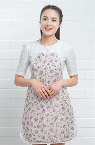 SunnyGod Hausfrau-Schürze Multifunktions Wasserdichte Haushaltsschürze Hellrosa Plum Flower...