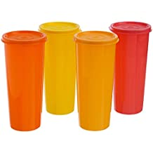 Tupperware Colourful Jumbo Tumblers with air-tight seal-set Of 4 (470 ML) by Tupperware